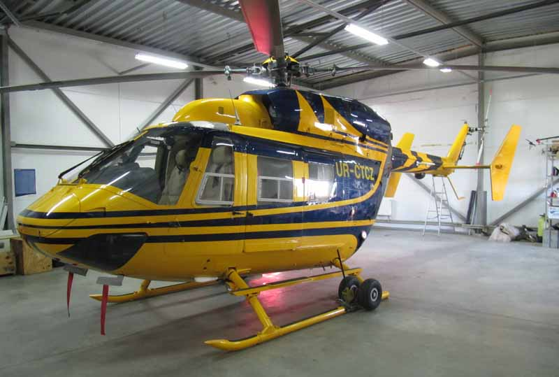 This kawasaki model bk 117 b2 helicopter is now available in ukraine