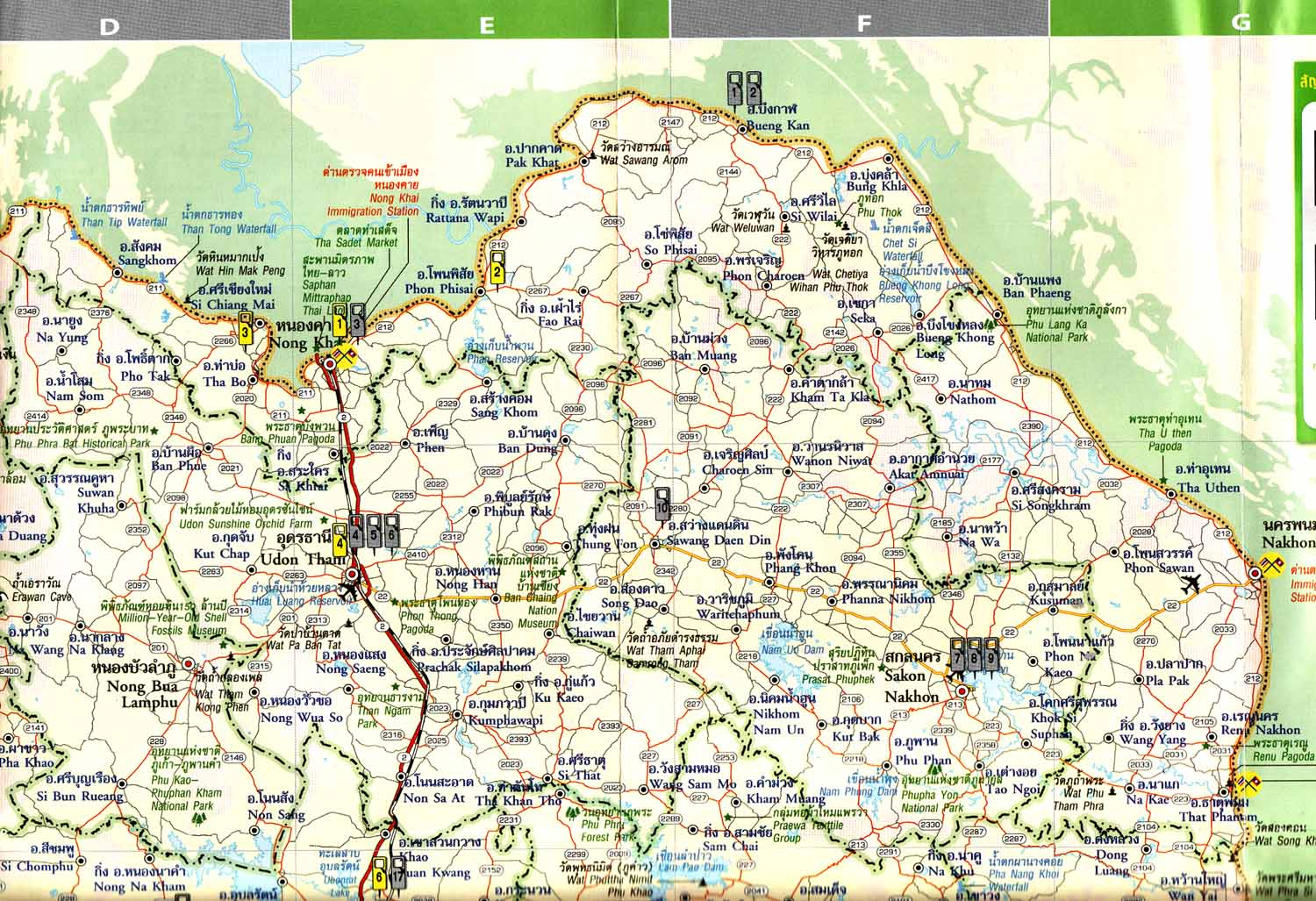 Road Maps For Bangkok Areas And Cities All Over Thailand - Map of thailand cities